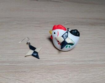 Origami Shuriken Earrings