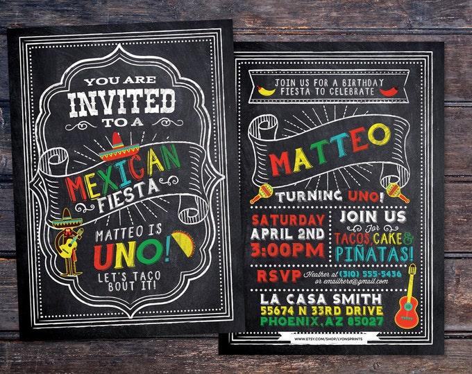 ANY AGE fiesta invitation / birthday fiesta invitation / fiesta birthday invitation / kids birthday invitation / mexican fiesta invitation