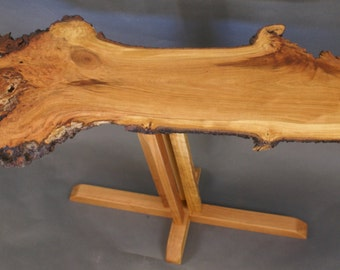 The Flame, a Wild Cherry Burl Top Occasional Table