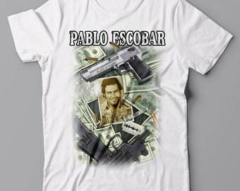 Funny T-shirt Pablo Escobar collage - Narcos