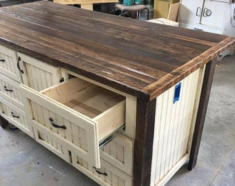 Kitchen Island With Storage, Kitchen Islands With Seating, Rustic, Shabby  Chic, Farmhouse