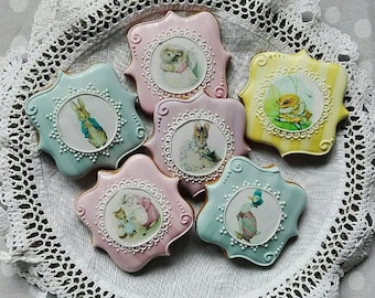 Beatrix Potter character cookies - baby shower cookies - birthday cookies - christening cookie - kids cookies - peter rabbit