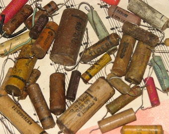 Vintage Electronic Resistors & Other Bits -  Very Steampunk