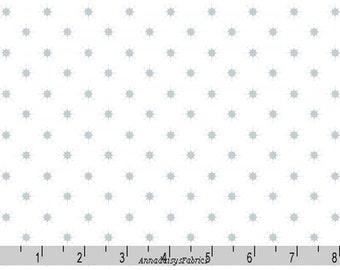 Metallic Silver Star Fabric, Lewis & Irene, Northern Lights C4 1, Silver Metallic Stars Quilt Fabric, Holiday, Christmas Fabric, Cotton