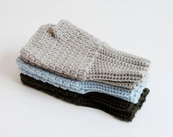 Crochet fingerless mittens, wool mittens, fingerless, fingerless gloves crochet mittens women wool mittens, fingerless gloves