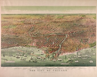 Map of Chicago, Illinois 1892