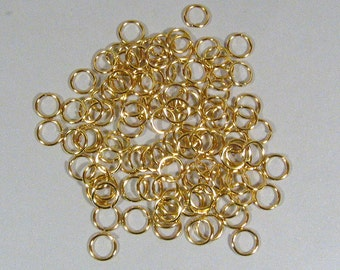 8mm Gold Plated Jump Rings - Choose Your Quantity