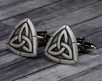 Celtic Knot Cufflinks - Celtic Knot Cuff Links -  Trinity Knot - Mens Accessories - Christmas - Gifts For Him - Mens Jewerly - Celtic - Knot