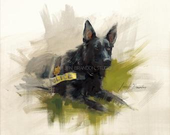 German Shepherd Giclée Fine Art Print
