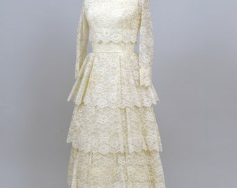 1960's Lace Ensemble Vintage Wedding Gown