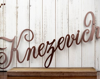 Family Name Metal Wall Art   Name Sign   Family Sign   Metal Sign   Outdoor Sign   Custom Sign   Personalized Sign   Sign