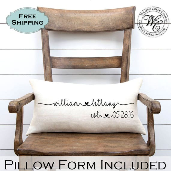 Gifts For Newly Weds: Wedding Gift Wedding Gifts Personalized Pillow Newlywed