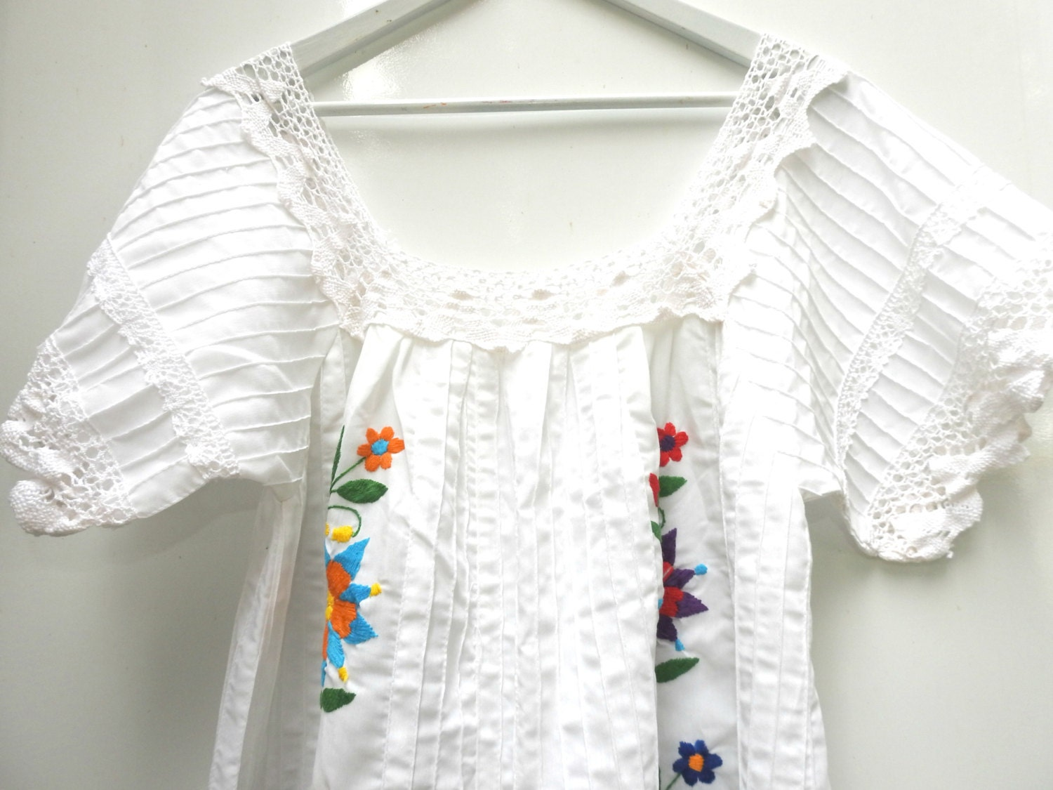 ... White embroidered mexican dress | Mexican dresses for women | Boho.  gallery photo gallery photo ...