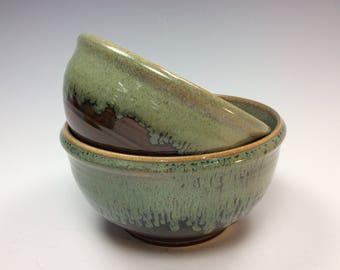 Pair of Handmade Stoneware Bowls