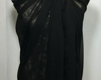 Black Swimsuit Cover, Bikini Cover ups, Swimsuit Cover, Swimwear, Wrap Pareo, Sarong, Beach Cover up, Swim Cover, Swim Wrap, Beachwear