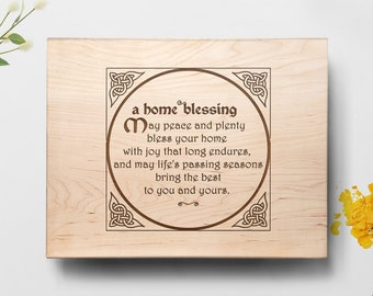 Home Prayer Cutting Board, Personalized Cutting Board, New Home Gift, Anniversary Gift, Engraved Cutting Board, Housewarming Gift Board