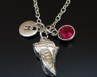 Running Shoe Necklace, Running Shoe Charm, Running Shoe Pendant, Runner Necklace, Runner Jewelry, Runner Girl, Marathon Necklace,Runner Gift