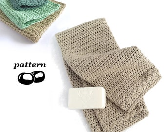 Crochet Towel Pattern / Crochet Washcloth Pattern / Crochet Towel and Washcloth Set / Bathroom Crochet Set
