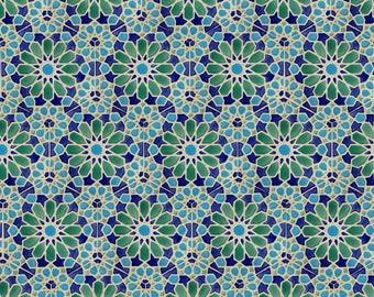 Hand Painted Tiles   Moroccan Tiles   Patio Tiles   Blue And Green Tiles    Kitchen