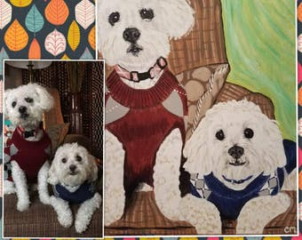 Personalized (2) Pet Painting