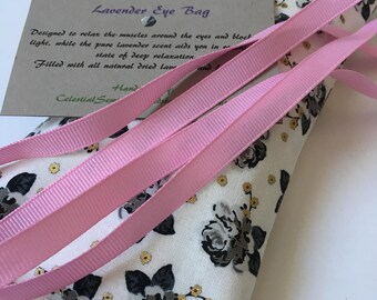 Rose Lavender Eye Pillow, Bridal Shower Gift, Best Friend Gift, Mothers Day Eye Mask, Sleep Mask, Bridesmaid Gift, Yoga Gifts for Her, Yoga