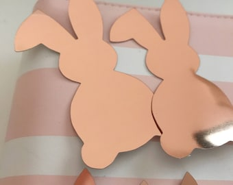 Bunny Heart Rose Gold Stickers