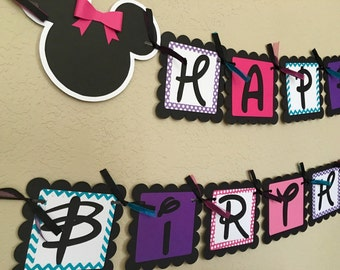 Minnie Mouse Birthday Banner, Minnie Mouse Birthday Party, Minnie Mouse Party, Minnie Mouse Birthday, Minnie Birthday Banner, Minnie Mouse