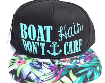 Boat Hair Don't Care! Trucker Hats, Custom Hats, Boating Hats, Pink Trucker Hat,