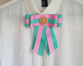 Gucci-inspired handmade bow brooch - AMÉLIE