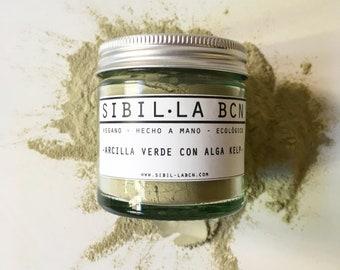 Green clay-with kelp algae-