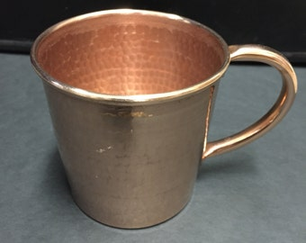 10oz. Handcrafted Moscow Mule Pure Copper Hammered Mug
