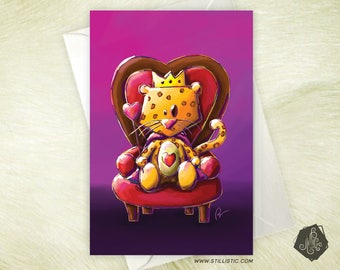 Lepoard King of hearts card mother's love-Valentine's day
