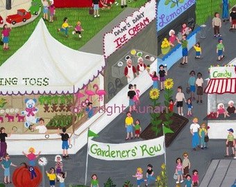 County Fair 4, summer art, county fair painting, Farm Art Print