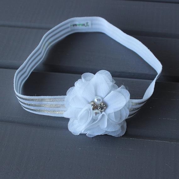 Flower Headband baby, Flower Headband, White Flower Headband, Floral Headband, Floral Headband Baby, Flower Crown, Floral Baby Headband