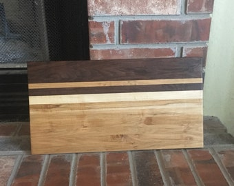 Multicolor hardwood cutting board
