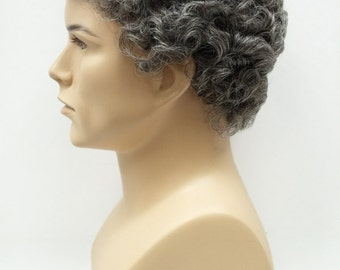 Gray Salt and Pepper Short Curly Men's Wig. Synthetic Fashion Wig. [57-304-Tom-44]