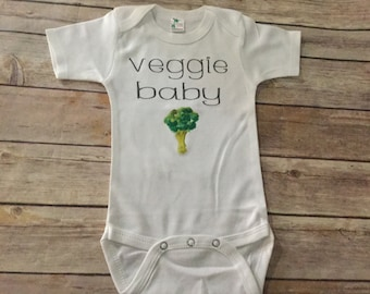 Veggie Baby One Piece or Shirt (Custom Text Colors/Wording)