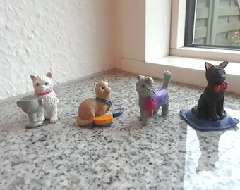 Vintage Kitty in My Pocket Set - Dulcie, Susi, Gerard, Nadine -SERIES 2 -1994 - Puppy in my pocket, Pony in my Pocket