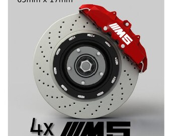 Set of 4 stickers of BMW M5 brake calipers