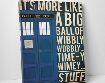 Doctor Who poster canvas Tardis Quote poster Doctor Who art alternative poster Dr Who Space poster Science Fiction poster Quote poster
