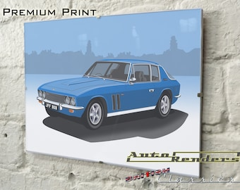 Jensen Interceptor/FF Mk2 Personalised Premium Signed Prints 12x8(A4) to 45x30(A0) Classic Cars Custom Illustration Fergerson 4WD Touring