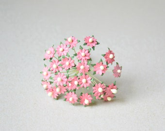 10 mm  / 20  Coral   Mulberry Paper  Flowers