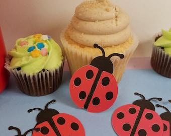 lady bug baby shower, lady bug first birthday, lady bug crafts, lady bug scrapbook embelishment, lady bug die cuts, bug cut out, paper bugs