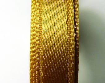Ribbon satin 9 mm 5 m Gold 6 b