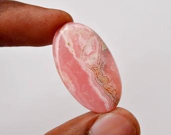 Natural Pink Rhodochrosite Gemstone Loose Cabochon Oval Shape 31x18x4 MM R10047