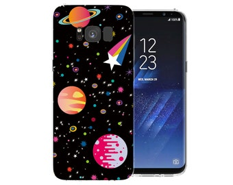 Samsung Galaxy S8 Case Space Art Patterned Cover Cases Best Planets and Stars Pattern Silicone Gel Covers