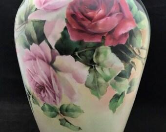 Antique Delinieres & Co. France Limoges Vase J. Chandler Studio