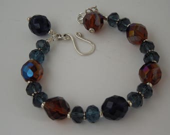 Janey Montana Blue & Golden Honey Sterling Silver Bracelet