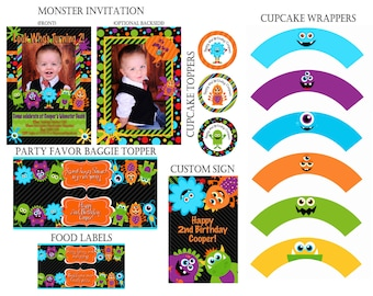 Monster Party Printables