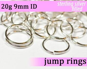 20g 9.0 mm ID silver filled jump rings -- 20g9.00 jumprings
